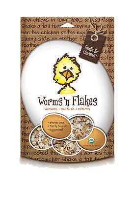 Treats for Chickens Worms and Flakes - Organic,Natural & Healthy for your flock! - SK Tack & Supply - 1