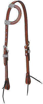 "Weaver Leather Austin Tack Collection 3/4"" Headstall with 5/8"" Flat Sliding Ear - SK Tack & Supply - 1"
