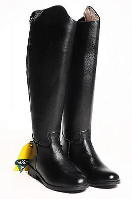 Saxon Ladies Equileather® Dress Boot - Synthetic - Black - Reg. or Wide Calf - SK Tack & Supply - 1