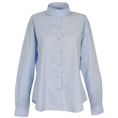 On Course Long Sleeve Horseback Riding Show Shirt - Ladies Size 38 - Light Blue - SK Tack & Supply - 1
