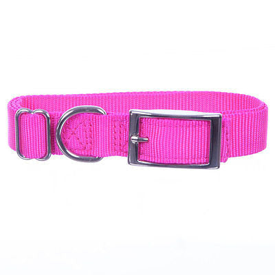 "Quality Adjustable Nylon Dog Collar 1"" Wide - Adjusts 14""-24"" - Assorted Colors - SK Tack & Supply - 1"