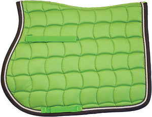 "LamiCell Mirage Quilted All Purpose English Riding Cotton Saddle Pad 24"" x 19"" - SK Tack & Supply - 1"