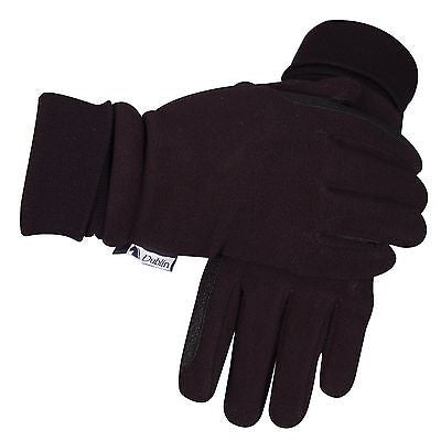 Dublin Everyday Waterproof Polar Fleece Riding Gloves - Black - Adults S, M, L - SK Tack & Supply - 1