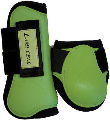 LamiCell Mirage Neoprene Lined Horse Tendon/Fetlock Protective Boots - Green - SK Tack & Supply