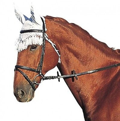 Roma Crochet Horse Ear Net - One Size - White - Perfect for trails! - SK Tack & Supply