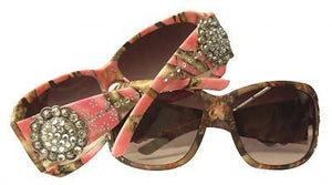Showman Couture™ Ladies Western Bling Camo Sunglasses - Rhinestone Conchos - SK Tack & Supply - 1