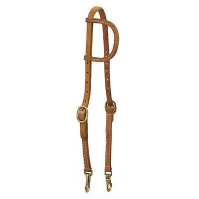 Showman® Argentina Cow Leather One Ear Headstall with Bit Snaps - Horse Size - SK Tack & Supply