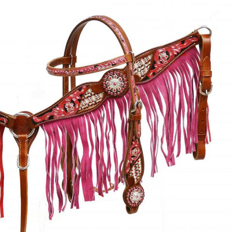 Woven Floral Headstall & Breast Collar Set - SK Tack & Supply