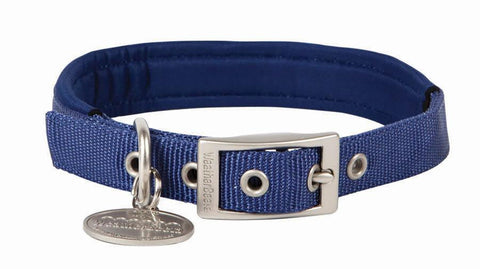 WeatherBeeta Adjustable Padded Dog Collar - Navy Blue - Quality Nylon - S, M, L - SK Tack & Supply