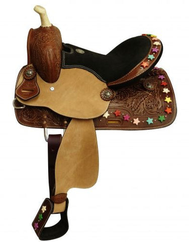 *LIMITED TIME ONLY!* Candy Star Beaded Youth Saddle Set - SK Tack & Supply - 1