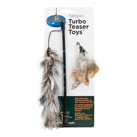 "Bergan Turbo Cat Teaser Toy Brown 5"" x 6"" x 12"""