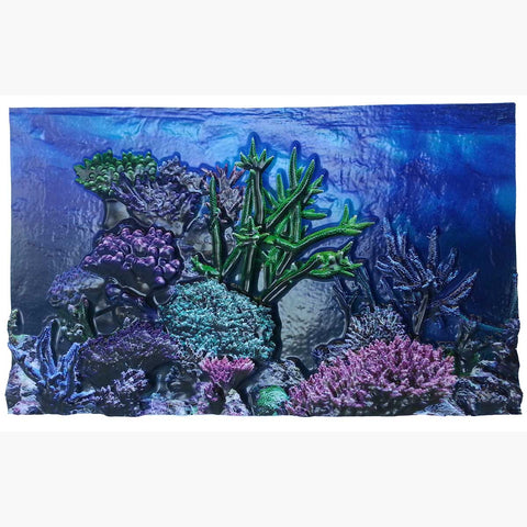 "BioBubble 3D Background Coral Reef 10 gallons 20"" x 10"""