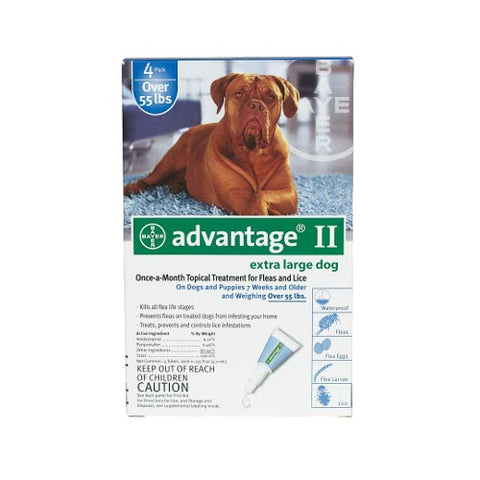 Advantage Flea Control for Dogs & Puppies Over 55 lbs. 4 Month Supply
