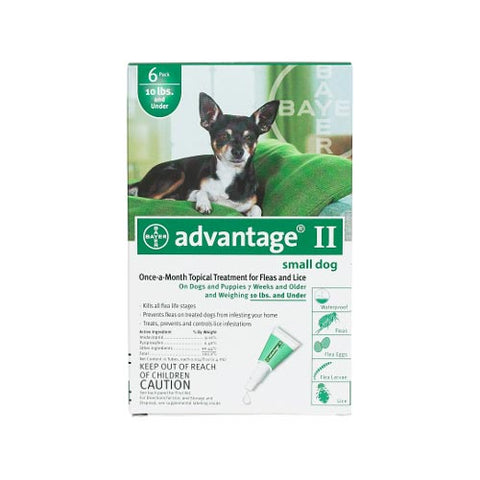Advantage Flea Control for Dogs & Puppies Under 10 lbs. 6 Month Supply - SK Tack & Supply