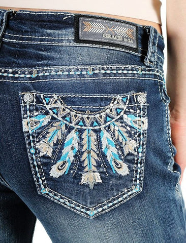 Dream Catcher Feathers Grace in LA Jeans - SK Tack & Supply - 1