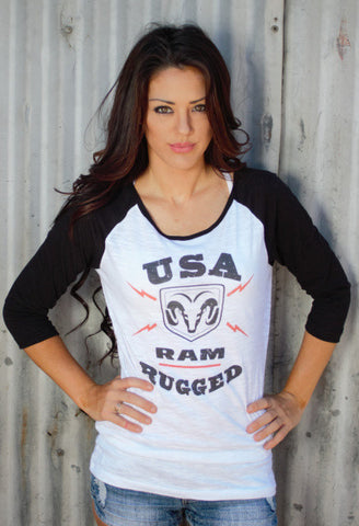 USA RAM Truck Rugged Baseball Tee - SK Tack & Supply - 1