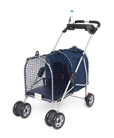 "Kittywalk 5th Ave Luxury Pet Stroller Blue 26"" x 14"" x 35.5"""