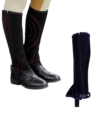Dublin® Easy Care Contrast Stitch Half Chaps - SK Tack & Supply - 1