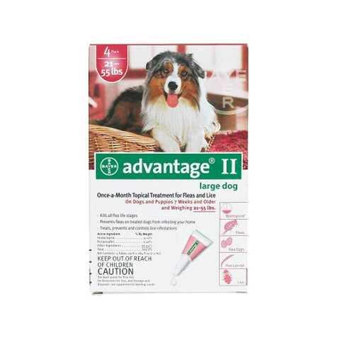 Advantage Flea Control for Dogs & Puppies 21-55 lbs. 4 Month Supply - SK Tack & Supply