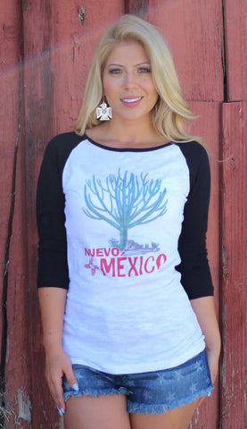 New Mexico Organic Ink Baseball Tee - SK Tack & Supply - 1
