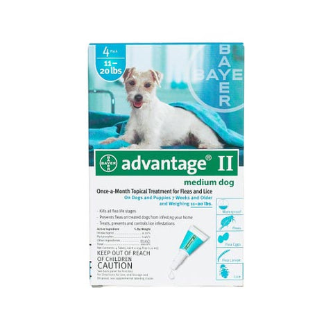 Advantage Flea Control for Dogs & Puppies 11-20 lbs. 4 Month Supply