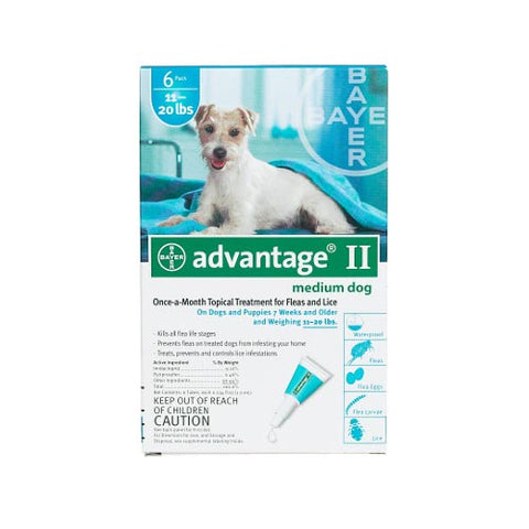 Advantage Flea Control for Dogs & Puppies 11-20 lbs. 6 Month Supply