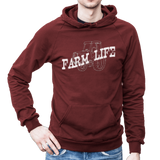 Farm Life Fleece Cotton Hoodie - SK Tack & Supply - 7