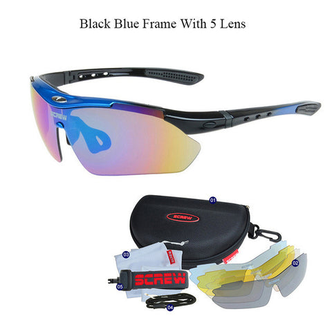 Men's Extra Vision Half Frame Sunglasses with Interchangeable Lenses