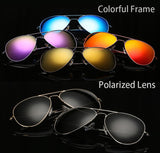 Women's Polarized Retro Aviator Sunglasses