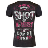 Rather Be Someone's Shot of Whiskey V-Neck Tee - SK Tack & Supply - 1