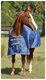 Solaris 1200D Medium Weight Draft Blanket Sapphire Blue - SK Tack & Supply - 3