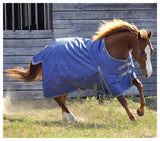 Solaris 1200D Medium Weight Draft Blanket Sapphire Blue - SK Tack & Supply - 5