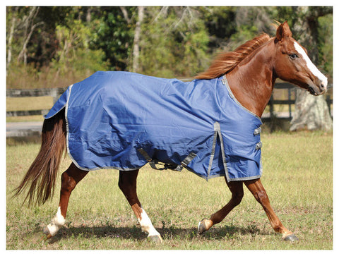 Solaris 1200D Medium Weight Draft Blanket Sapphire Blue - SK Tack & Supply - 1