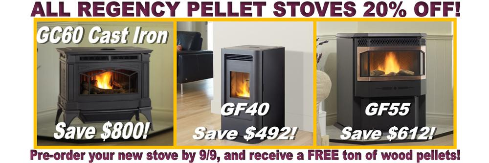 Regency Stove Sale going on now!
