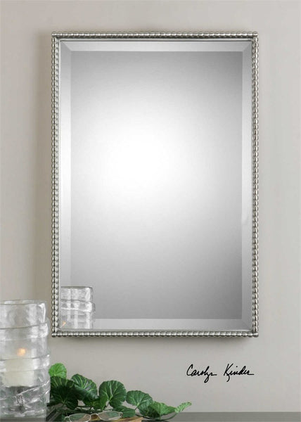 "Sherise Brushed Nickel Metal Mirror 21""x31""x2"" - Classy Mirrors"
