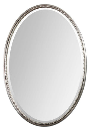 "Casalina Nickel Oval Mirror 22""x32""x2"" Bathroom Mirrors Uttermost"