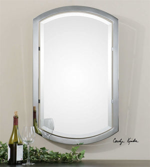 "Rennick Arched Metal Mirror 23""x37""x2"" Bathroom Mirrors Uttermost"