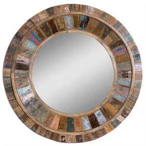 "Jeremiah Reclaimed Wood Mirror 32""x32""x4"" Rustic Mirrors Uttermost"