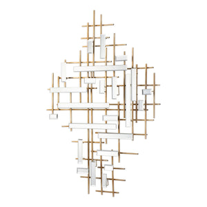 "Apollo Gold & Mirrored Wall Art 46""x33""x2"" Decorative Mirrors Uttermost"