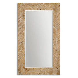 "Demetria Natural Wood Mirror 44""x74""x2"" - Classy Mirrors"