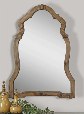 Rustic mirrors classy mirrors augustin walnut frame mirror 30x43x2 rustic mirrors thecheapjerseys Image collections