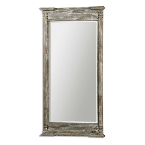 "Valcellina Weathered Wood Mirror 38""x74""x5"" - Classy Mirrors"