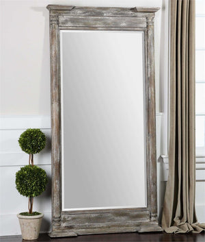 Valcellina Weathered Wood Mirror Rustic Mirrors Uttermost