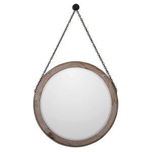 "Loughlin Round Wood Mirror 34""x34""x2"" Round Mirrors Uttermost"