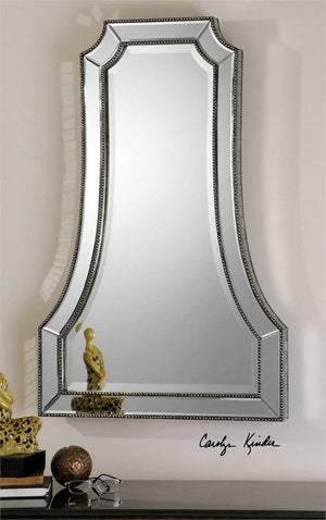 Cattano Silver Beaded Mirror Antique Mirrors Uttermost