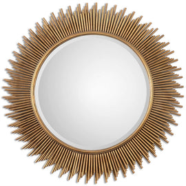"Palermo Antique Gold Round Mirror 36""x36""x1"" - Classy Mirrors"