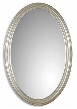 "Franklin Oval Silver Mirror 21""x31""x1"" Bathroom Mirrors Uttermost"