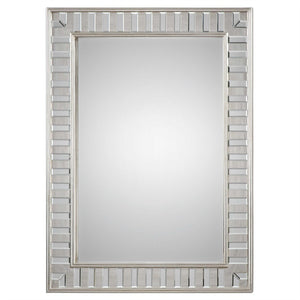 "Manester Silver Leaf Mirror 36""x48"" Silver Mirrors Uttermost"