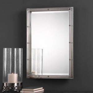 Manning Brushed Nickel Mirror Bathroom Mirrors Uttermost