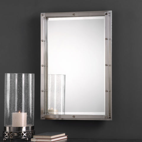 Manning Brushed Nickel Mirror - Classy Mirrors